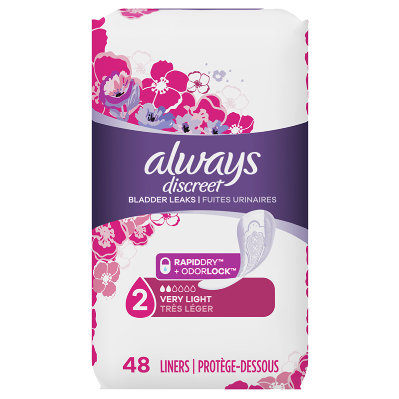 Always Discreets Liner Very Light Regular Length - 48's
