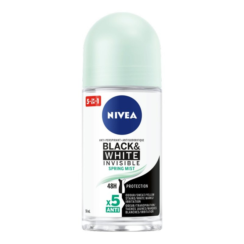 Nivea Invisible for Black & White Anti-Perspirant Roll On - Spring Mist - 50ml