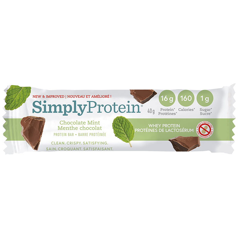 SimplyProtein Whey Bar - Chocolate Mint - 40g