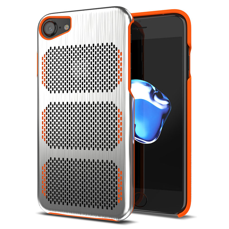 IOM Cases Extreme GT for iPhone 7/6/6s - Silver/Orange - IOMEG707O