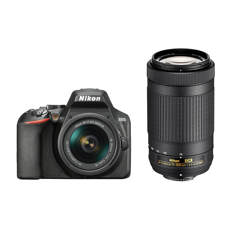 Nikon D3500 With 18 55mm VR And 70 300mm Lens Package