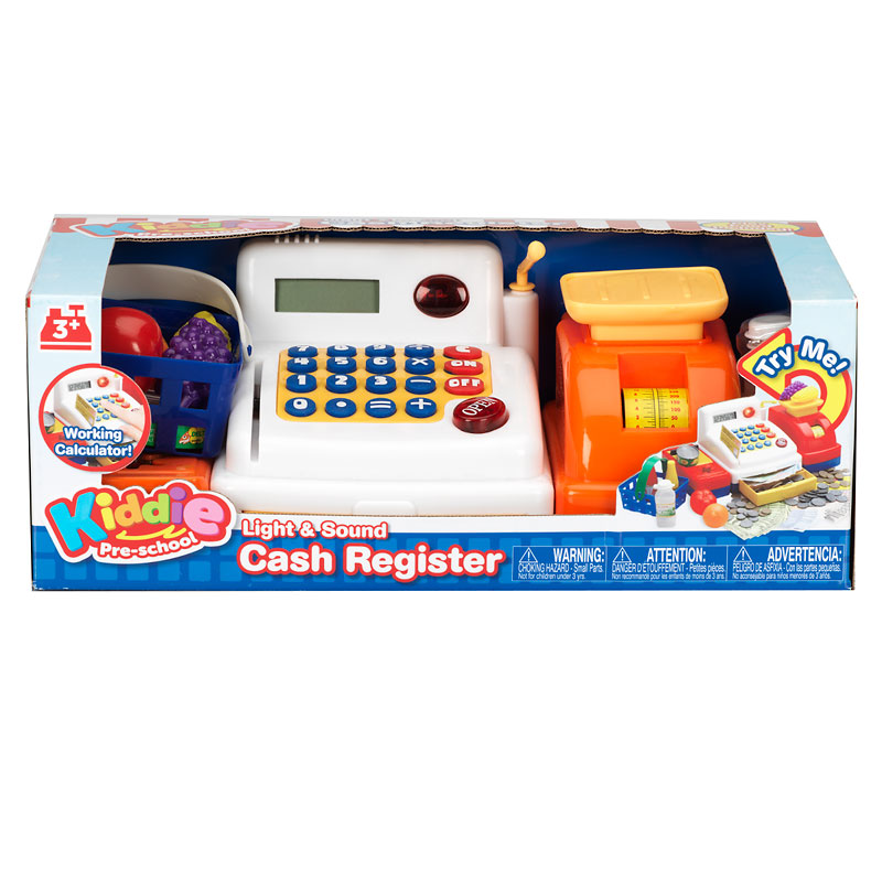 KiddyPlay Cash Register Battery Operated with Calculator