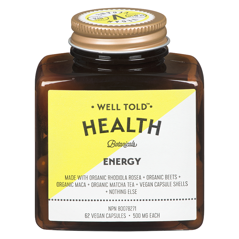Well Told Health Botanicals Energy Supplement - 62's