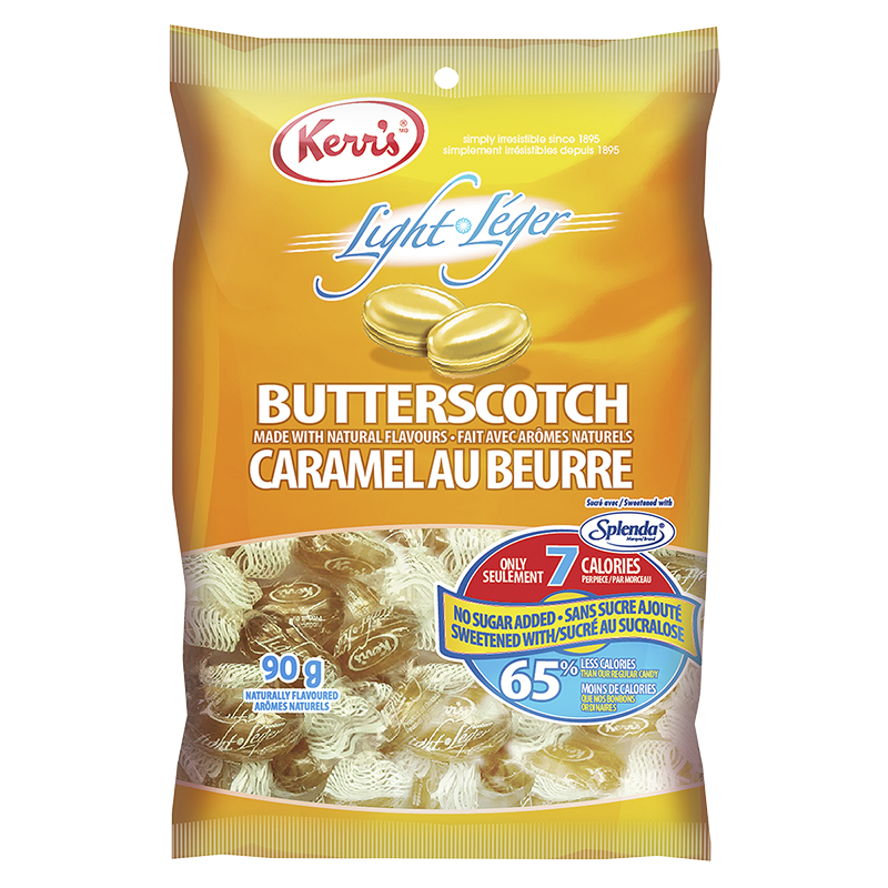 Kerr's Light Candy - Light Butterscotch - No Sugar Added - 90g