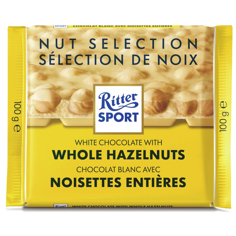 Ritter Sport - White Chocolate with Whole Hazelnuts - 100g
