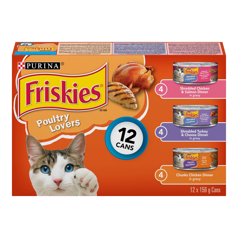 Friskies Poultry Variety Pack  for Cats - 12 x 156g