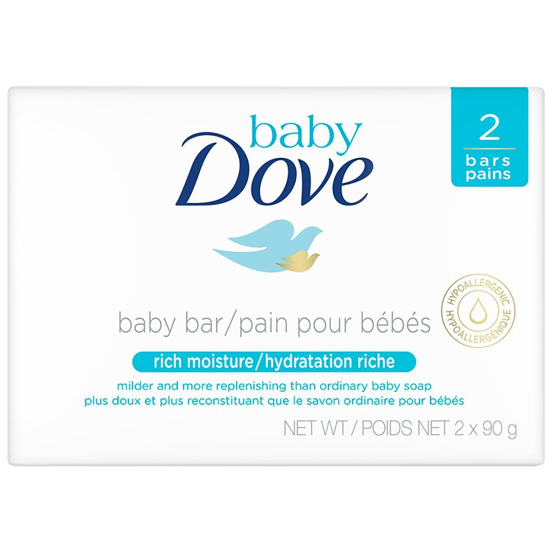 Dove Baby Rich Moisture Cleansing Bar - 2x90g