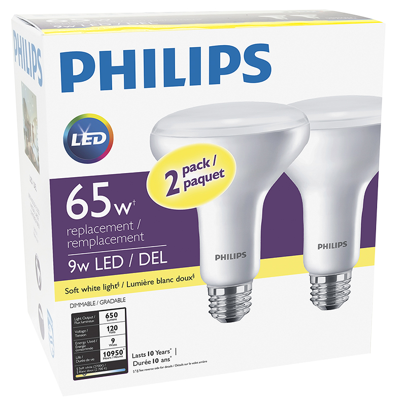 Philips Household BR30 LED Bulb - Soft White - 65W