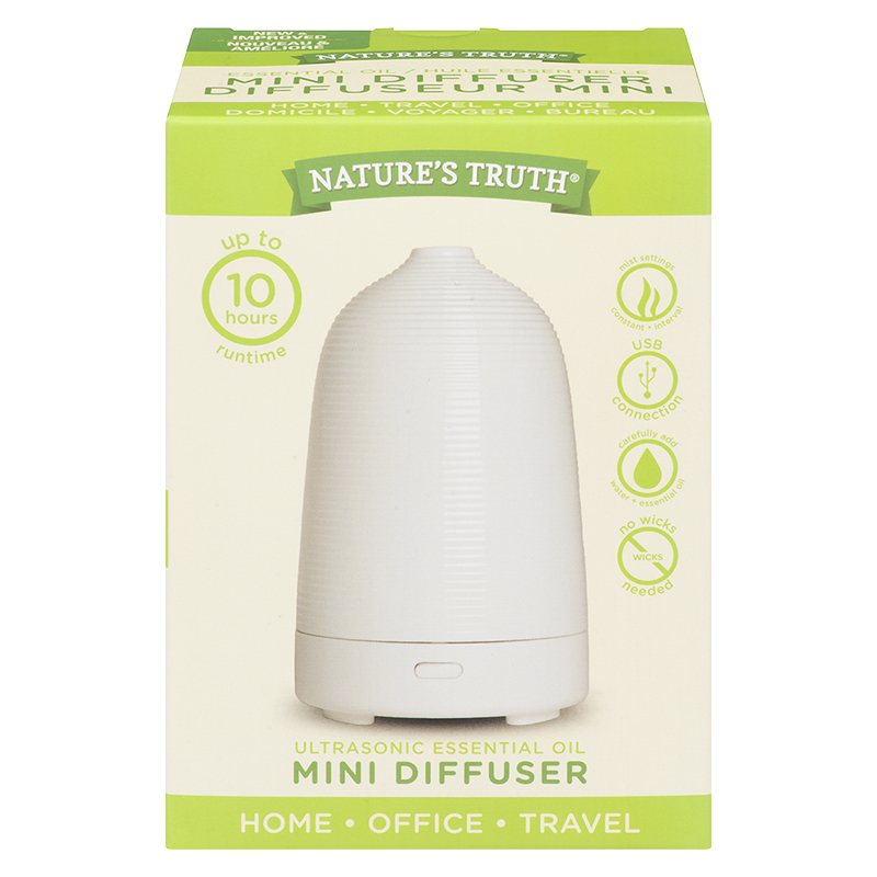 Nature's Truth Ultrasonic Essential Oil Mini Diffuser - 10546