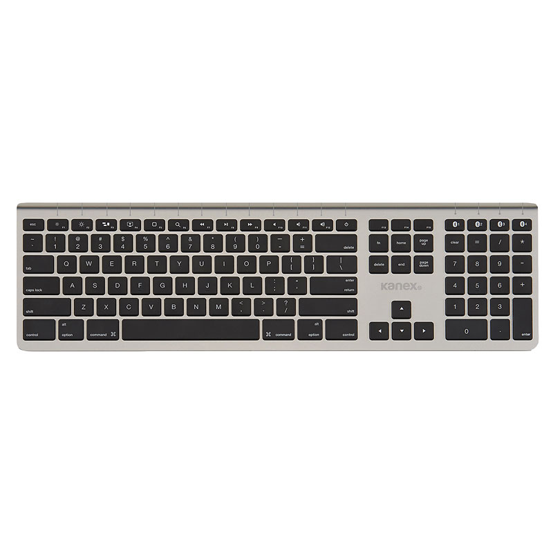 Kanex MultiSync Aluminum Wireless Mac Keyboard - Bluetooth - Silver - KA-K166-1013