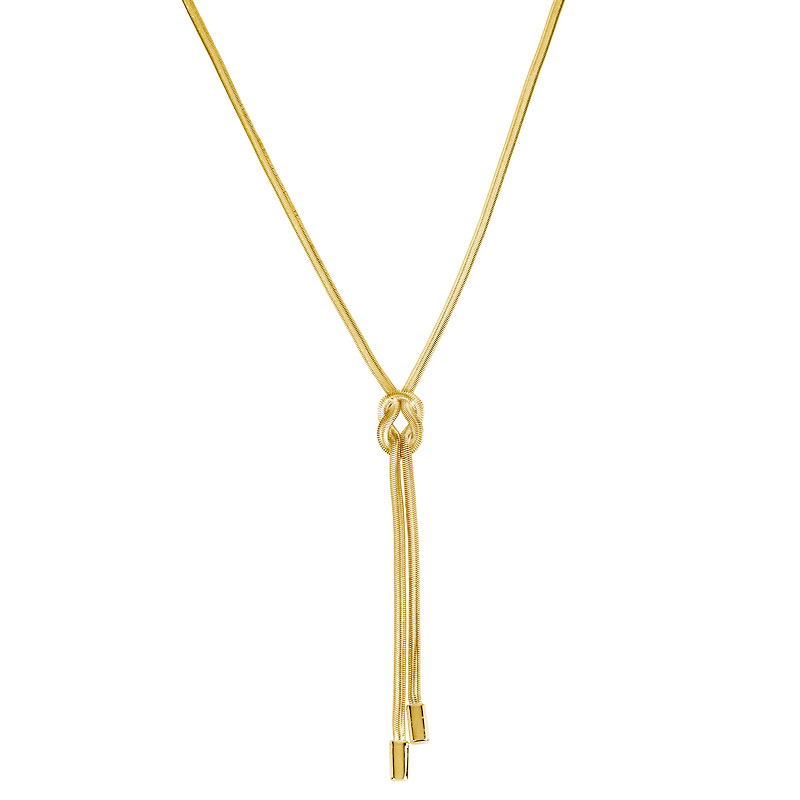 Kenneth Cole Knotted Snake Chain Necklace - Shiny Gold