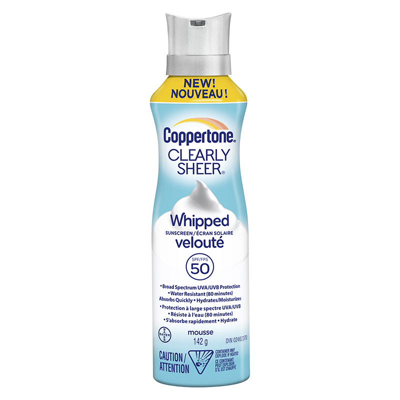 Coppertone Clearly Sheer Whipped Sunscreen SPF50 - 142g