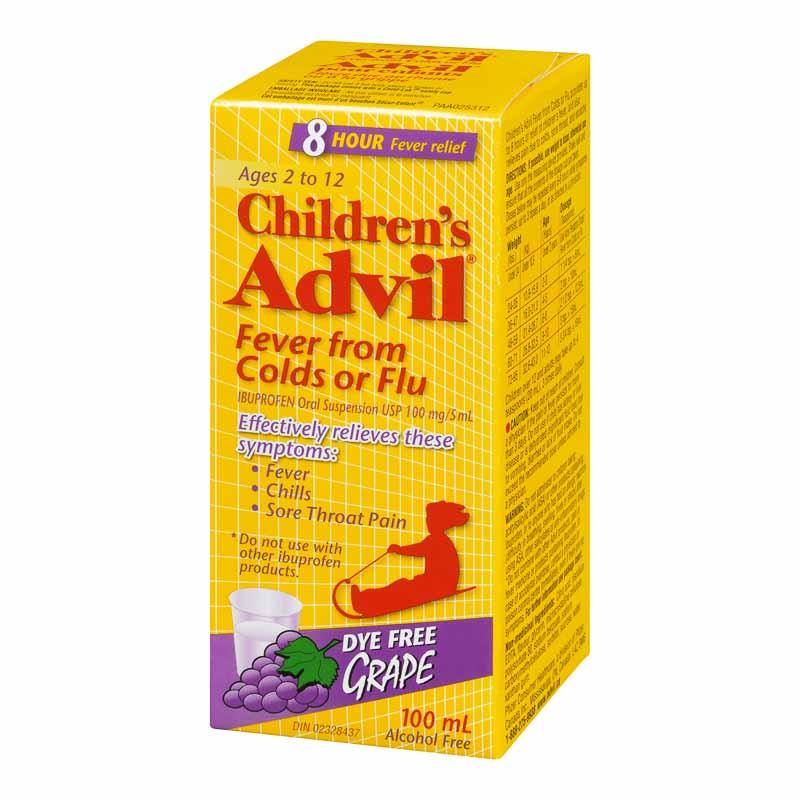 Advil Children's Fever from Colds or Flu Suspension - Dye ...