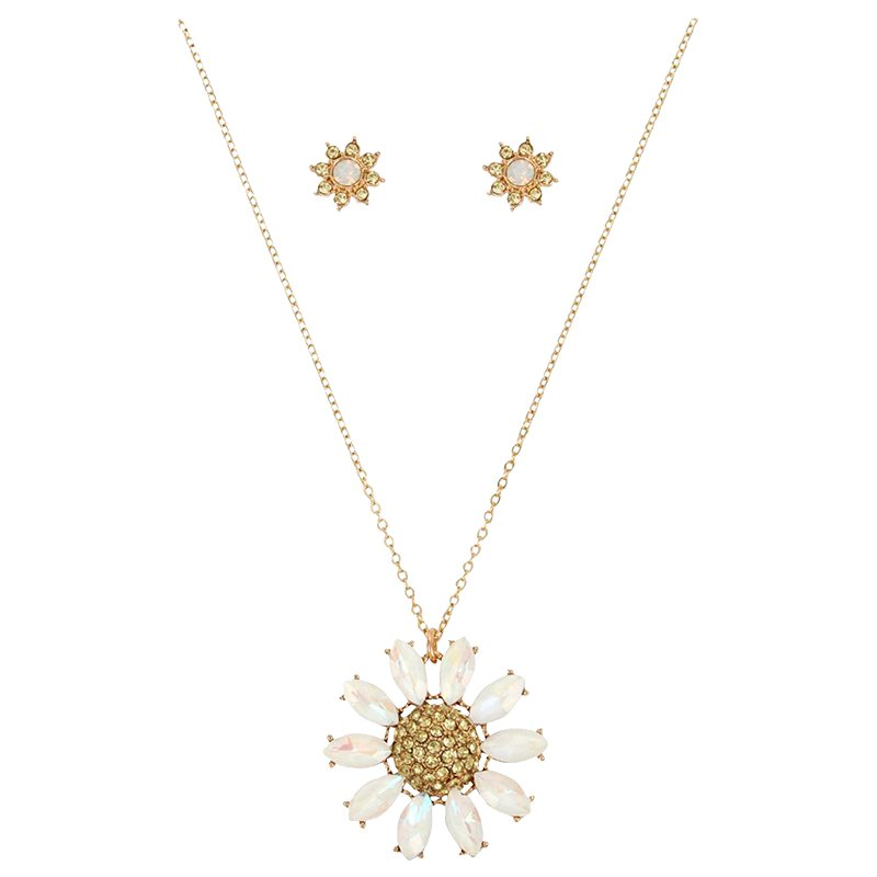 b0486d9496958 Betsey Johnson Bee Mine Daisy Earring and Necklace Set