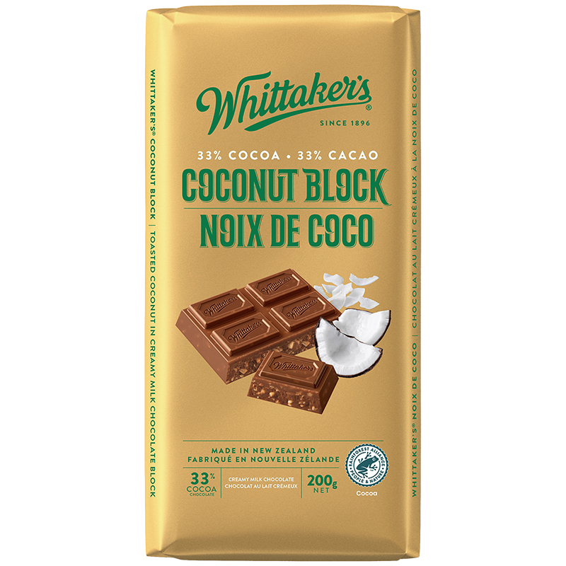 Whittakers Milk Chocolate - Coconut - 200g