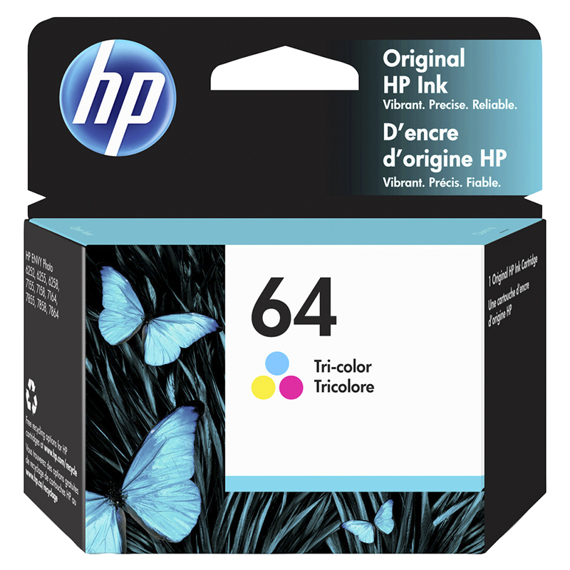 HP 64 Tri-Colour Printer Ink Cartridge