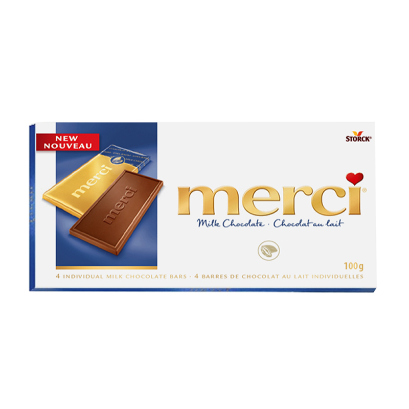 Merci Chocolate - Milk Chocolate - 4 Bars/100g