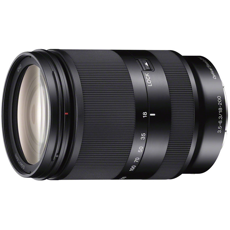 Sony 18-200mm f3.5-6.3 OSS E-Mount Zoom Lens - Black - SEL18200LE