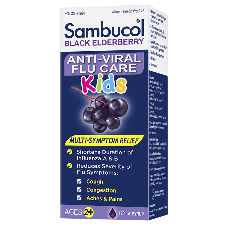 Sambucol Kids Anti-Viral Flu Care - Black Elderberry - 120ml