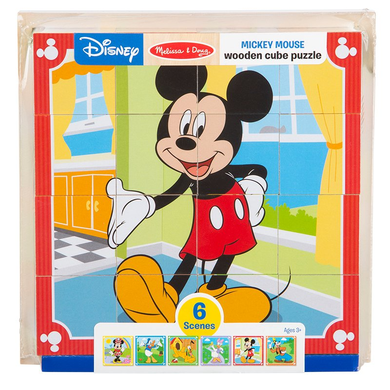 Melissa & Doug Mickey Mouse Cube Puzzle