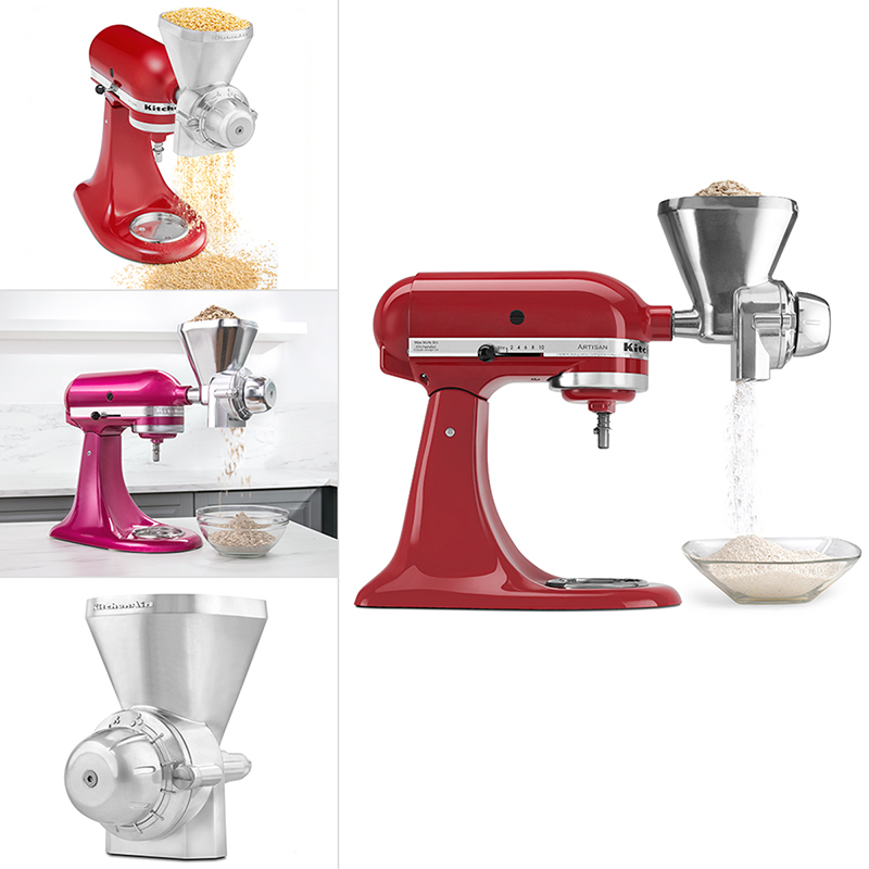 KitchenAid Grain Mill Attachment - White - KGM | London Drugs on haier products, ikea products, kitchen care products, kohler products, braun products, kitchen invention products, hampton bay products, ge products, sleep aid products, general electric products,