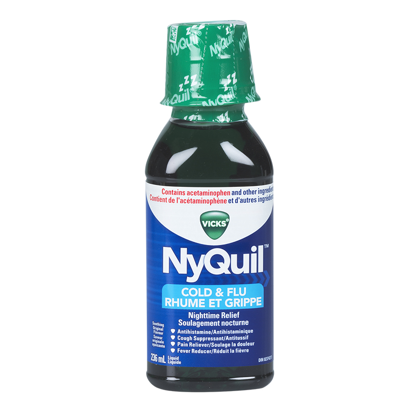 Vicks Nyquil Liquid for Cold and Flu - Original - 236ml
