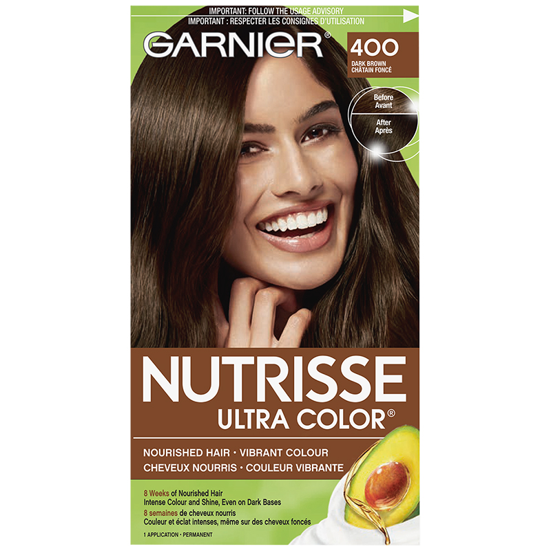 Garnier Nutrisse Ultra Color Permanent Hair Colour 400 Dark Brown