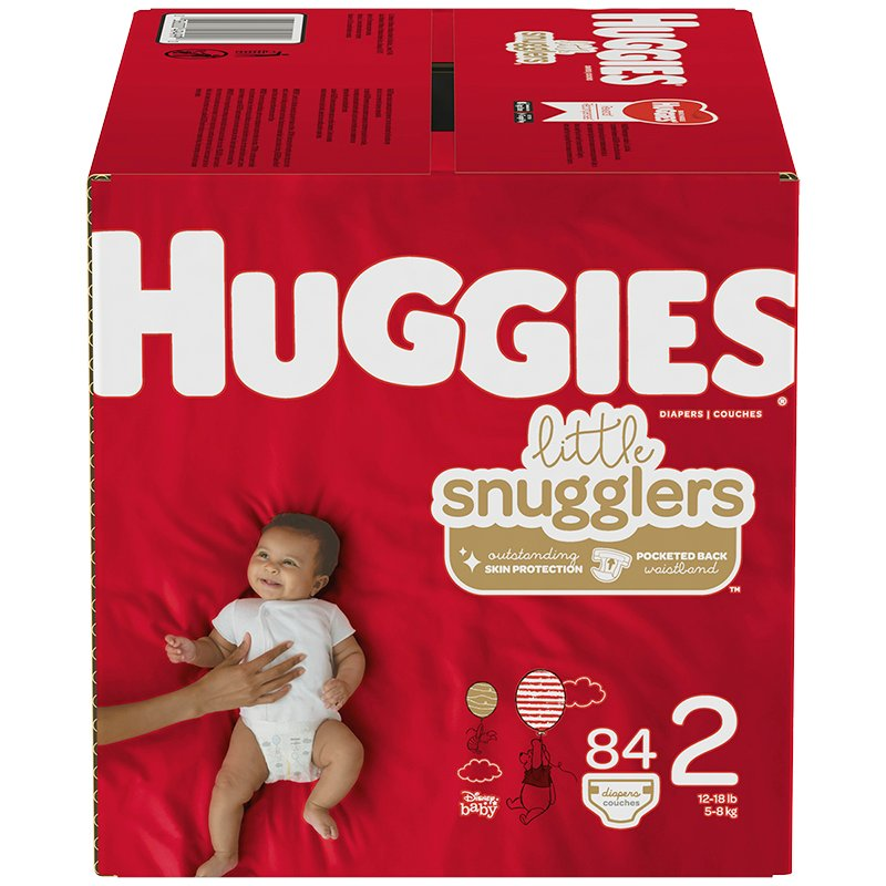 Huggies Little Snugglers Diapers - Size 2 - 84's