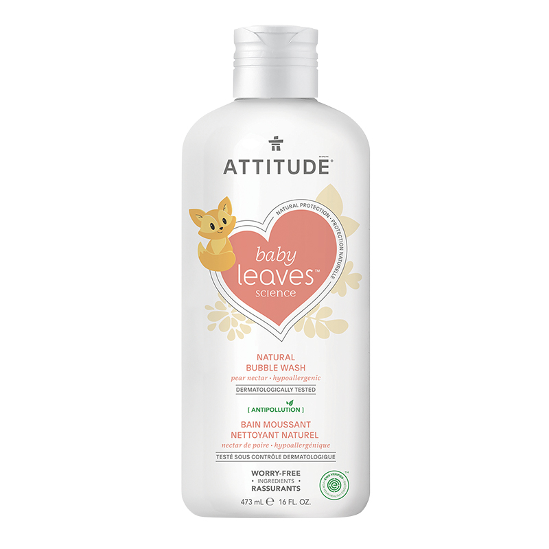 Attitude Baby Leaves Natural Bubble Wash - Pear Nectar - 473ml