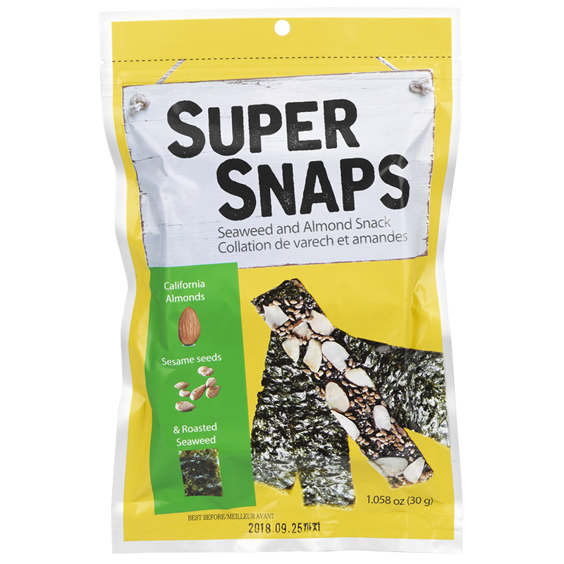 Super Snaps Seaweed and Almond Snack - 30g
