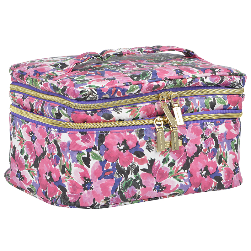 Sofia Joy Double Zip Train Case - Luxe Botanical - A007252LDC