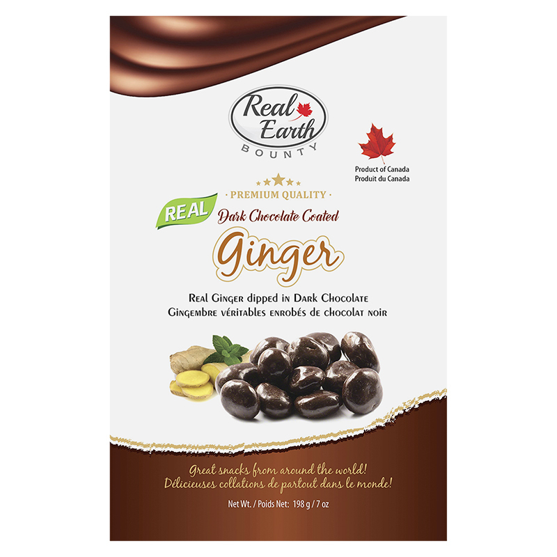 Real Earth Bounty Dark Chocolate Coated Ginger - 42.5g