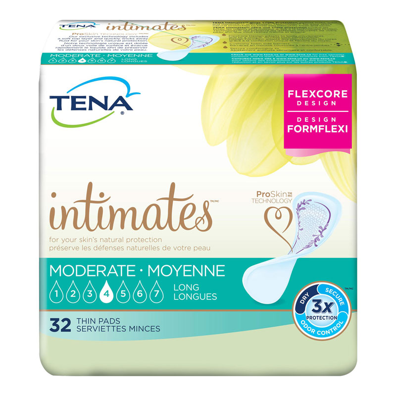 Tena Ultra Thins Heavy Absorbency Pads - Regular - 32's