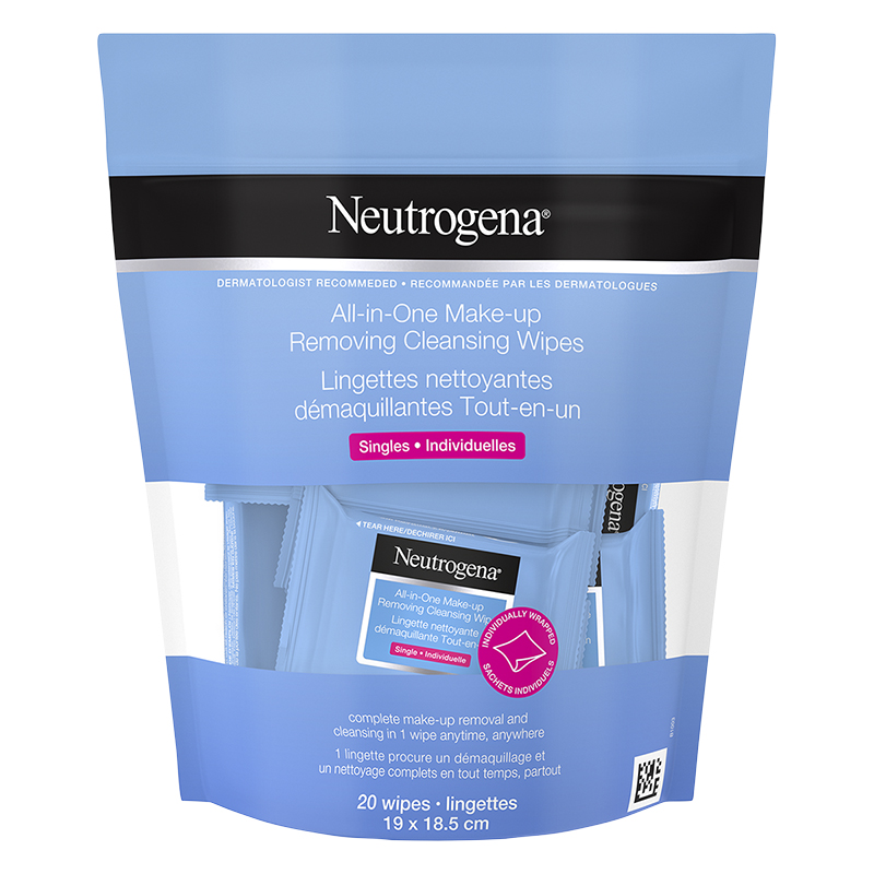 Neutrogena All-in-One Make-up Removing Cleansing Wipes Singles - 20's