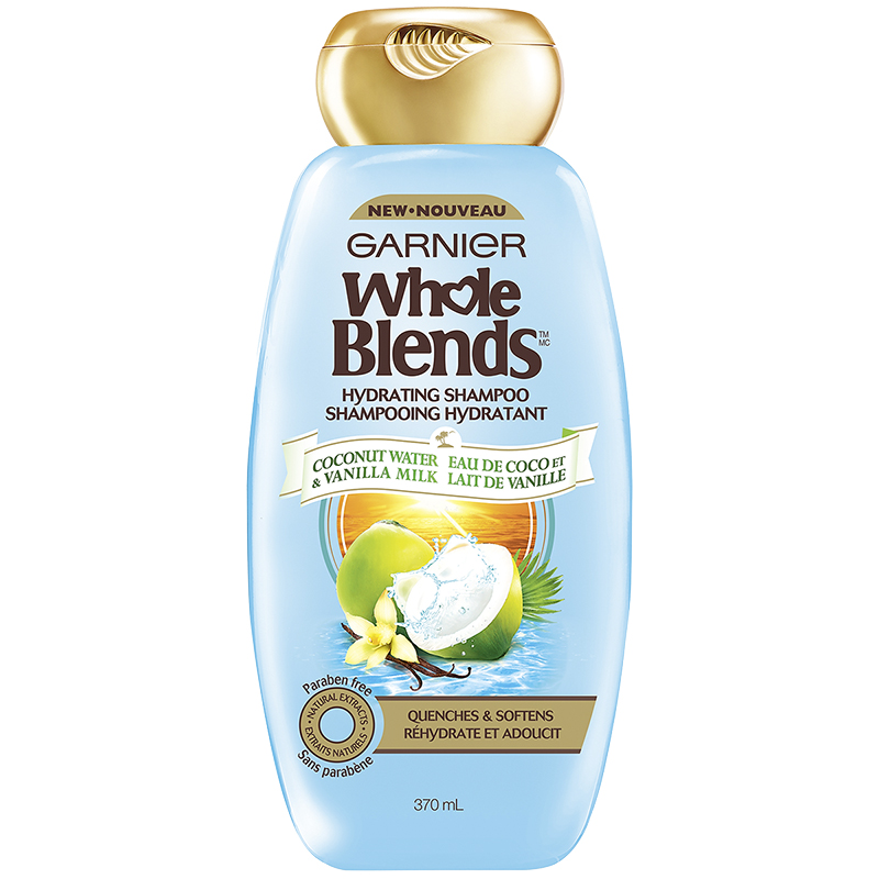 Garnier Whole Blends Hydrating Shampoo - Coconut Water & Vanilla Milk - 370ml