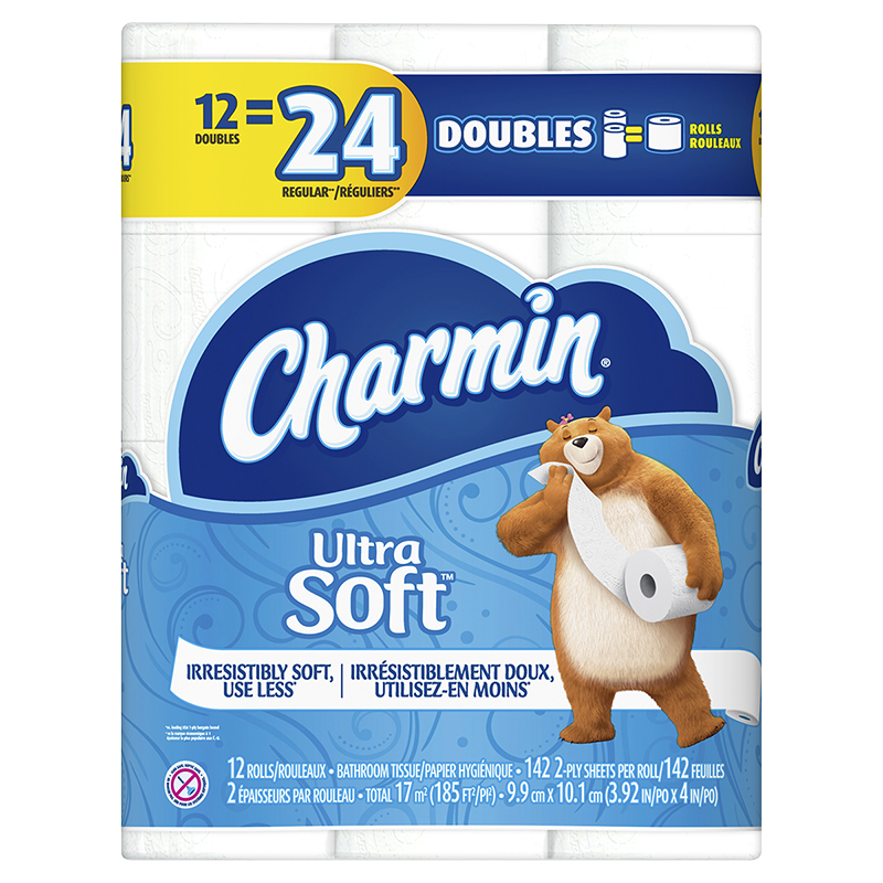 image relating to Charmin Coupon Printable titled Charmin Toilet Tissue Extremely Gentle Double Rolls - 12s