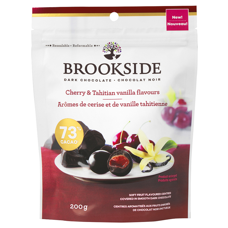 Brookside Dark Chocolate - Cherry & Tahitian Vanilla Flavours - 200g