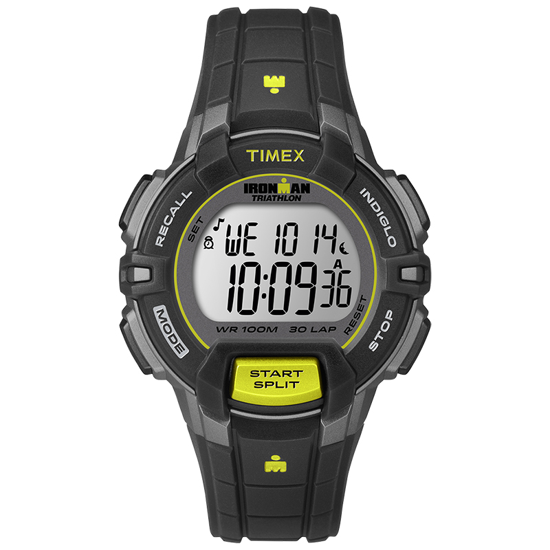 Timex Ironman Rugged 30-Lap Watch - Black/Lime - T5K809GP