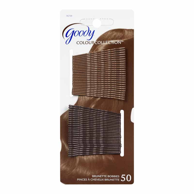 Goody Colour Collection Bobby Pins - Brunette - 50 pack