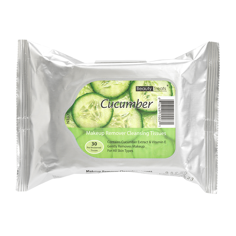 Beauty Treats Makeup Remover Cleansing Tissues - Cucumber - 30's