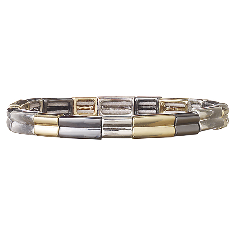 Nine West Thin Stretch Bracelet - Gold/Silver