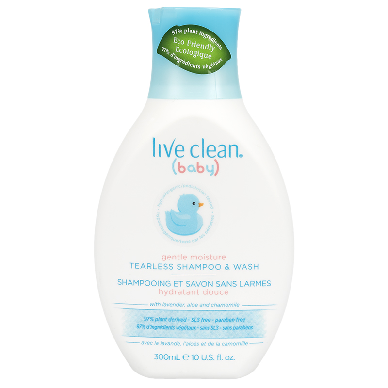 Live Clean Baby Tearless Shampoo & Wash - 300ml