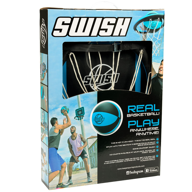 Swish Portable Real Basketball Hoop - Blue