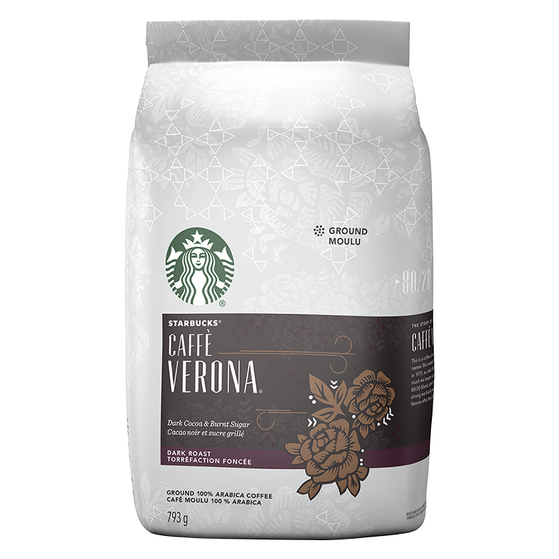 Starbucks Coffee - Caffe Verona Dark Roast - Ground - 793g