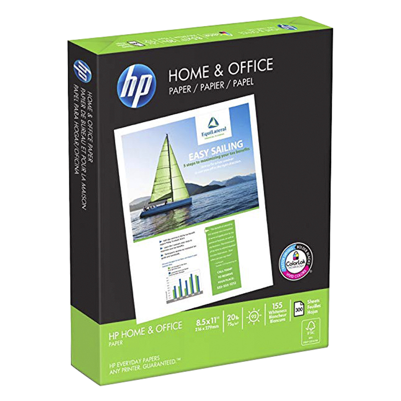 HP Home and Office Printer Paper Case - 300 Sheets x 8 Pack - 200300C
