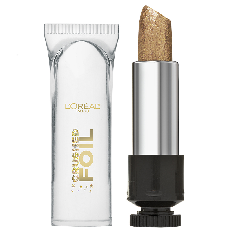 L'Oreal Crushed Foil Metallic Lipstick - Brass