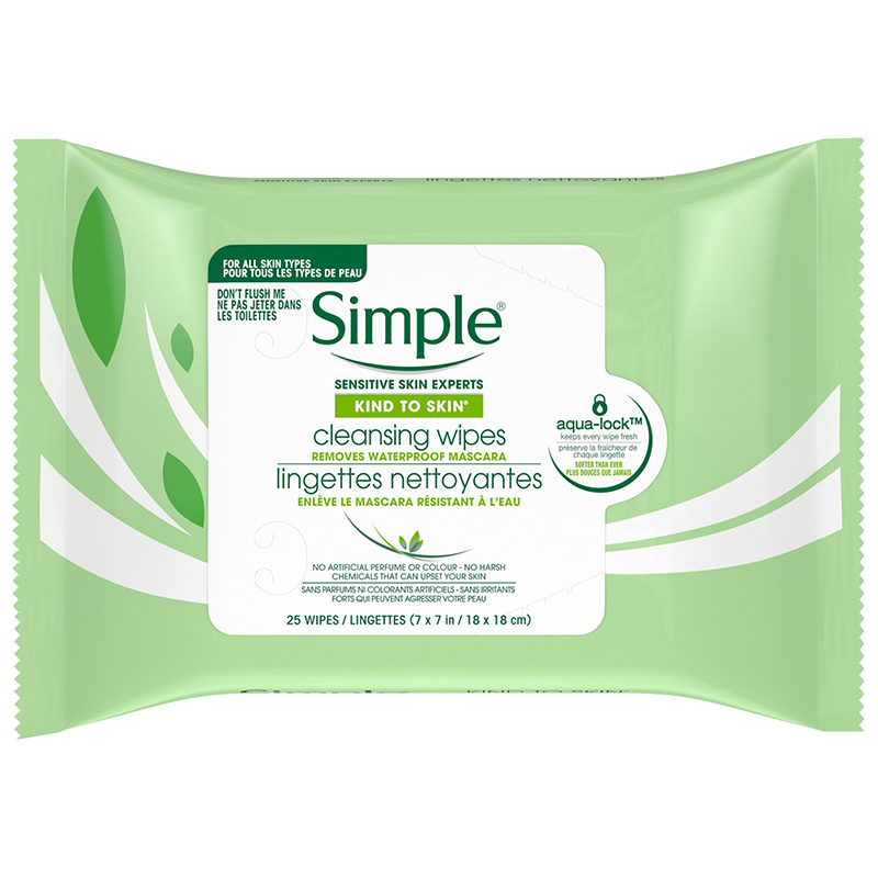 Simple Kind to Skin Cleansing Facial Wipes - 25's