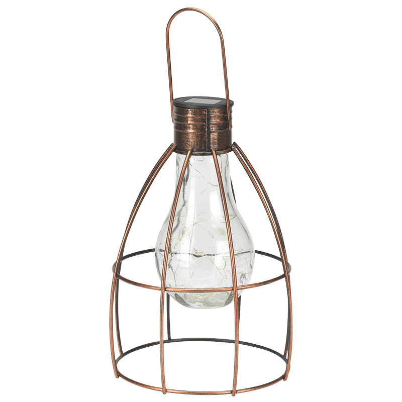 London Drugs Solar Lamp with Wire Frame - 21 x 21 x 30cm