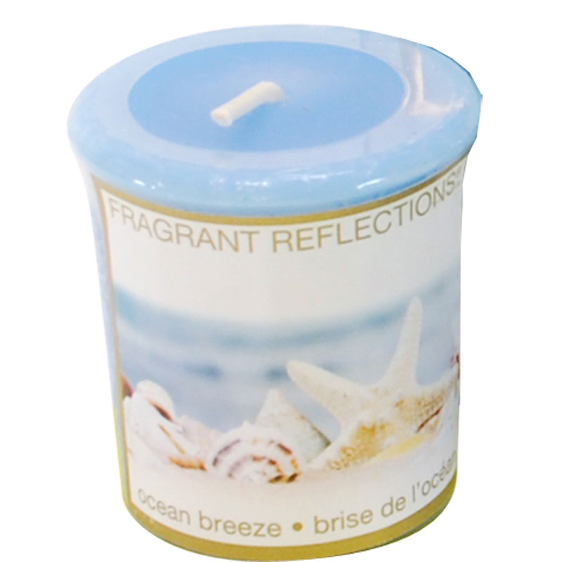 Fragrant Reflection Votive Candle - Ocean Breeze