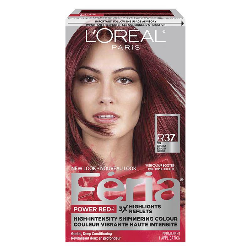 Loreal Feria Hair Colour R37 Deep Burgundy London Drugs